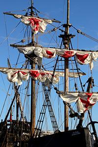 Nachbau von Kolumbus' Schiff Santa Maria, Bild: Peter Weidemann, Pfarrbriefservice.de