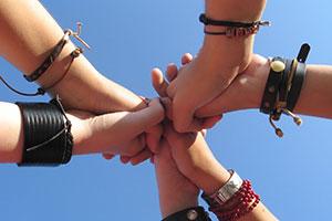 Jugendliche Hände